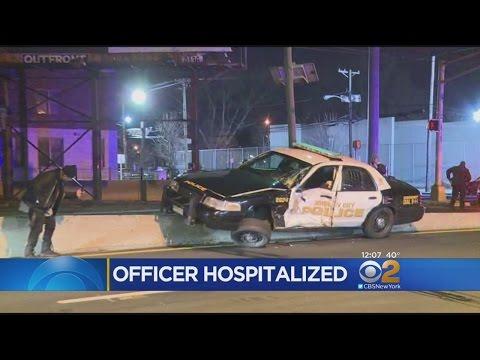 New Jersey Police Car Crash