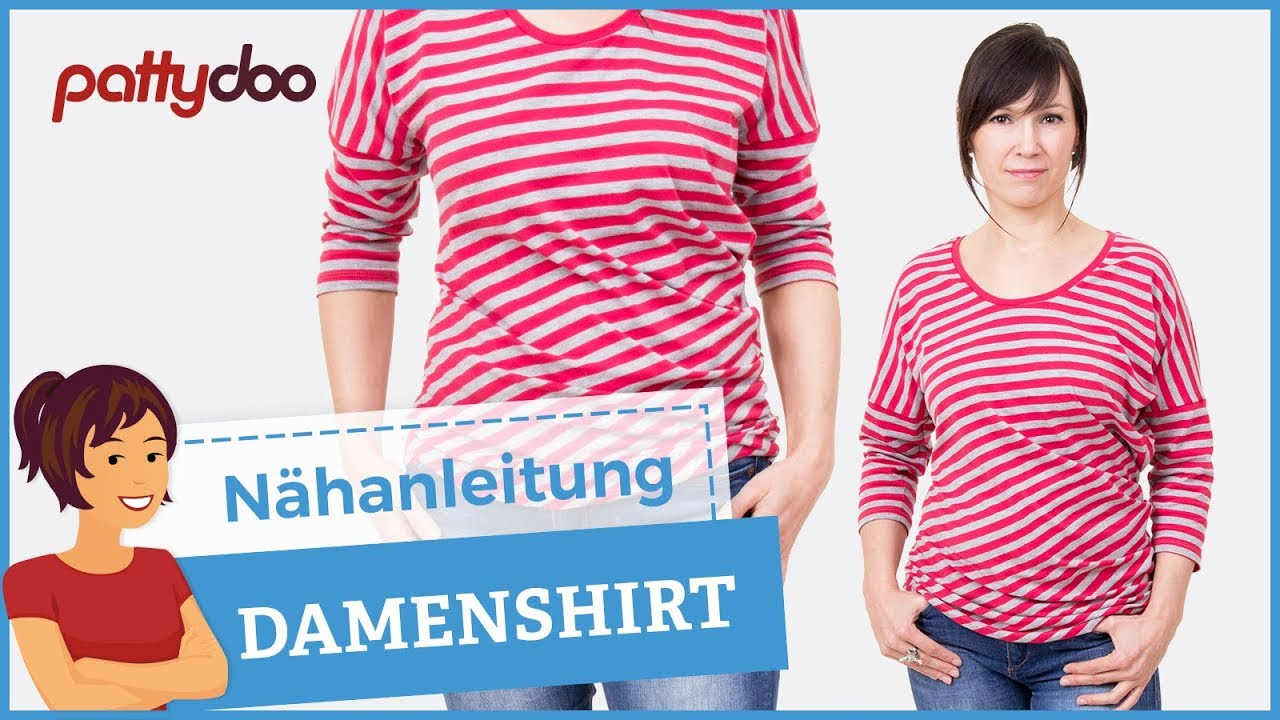 Top Shirt selber nähen - pattydoo Nähanleitung, auch für Anfänger CW08
