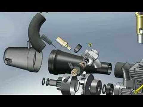 Solidworks Rc Engine Final Video Exploded View