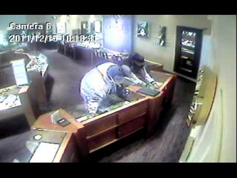 Shulers Jewelers Robbery 12-15-2011 Jewelry Cases.mpg