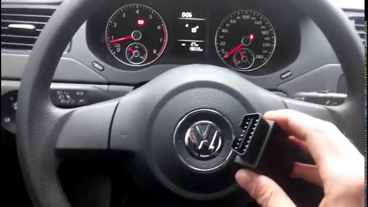 диагностический разъём в volkswagen polo sedan