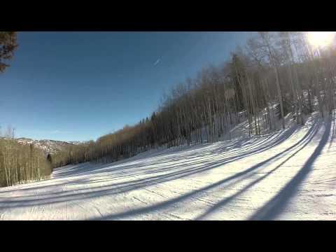 Skiing at Sunlight - Ute run