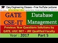 DBMS GATE 2017 Solved Questions Part 5 - Result of SQL Query using AVG and COUNT Function