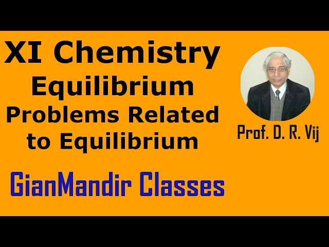 XI Chemistry | Equilibrium | Some Problems Related to Equilibrium by Ruchi Ma'am