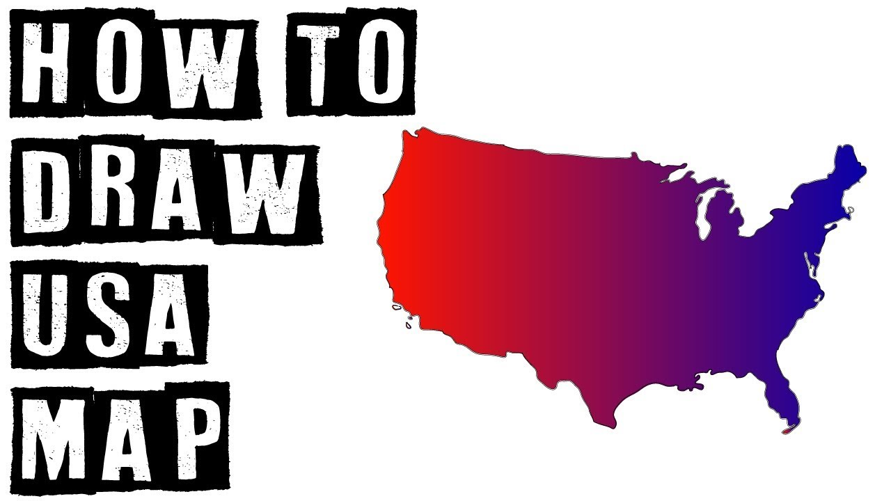 How To Draw United States of America (USA) Map Drawing Expert - YouTube