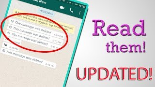 Recover Deleted WhatsApp Messages including Media files! [UPDATED 2018]