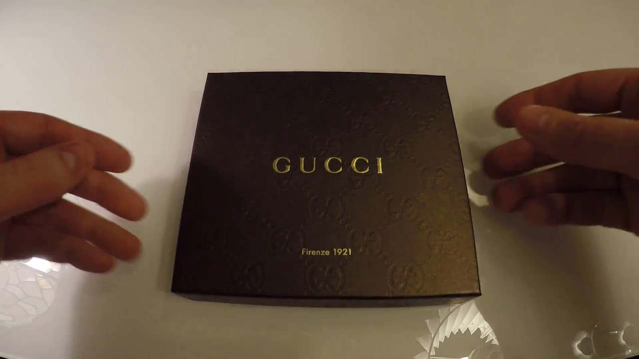 815d1c09e57f Gucci Signature wallet unboxing - YouTube