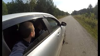 Никита получил права! Катаемся на LADA XRAY Свалка автомобилей!