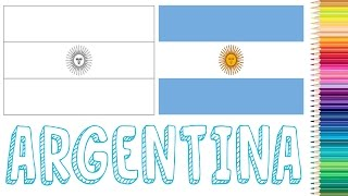 Geography For Kids - Coloring Flag of Argentina