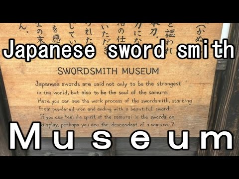 Japanese samurai sword(katana)museum  sword smith Edo Wonderland (nikko edomura)