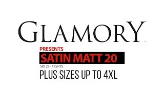 Glamory Satin Matt 20 Tights - Plus Size Product Video | Glamory