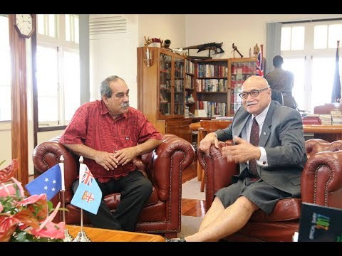 Fijian President received courtesy call from the President of Federated States of Micronesia.