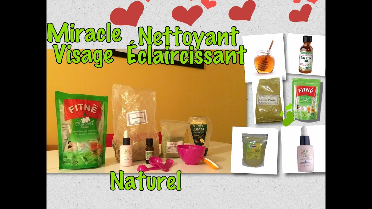 miracle nettoyant visage claircissant naturel contre les tampons taches et l 39 acn youtube. Black Bedroom Furniture Sets. Home Design Ideas
