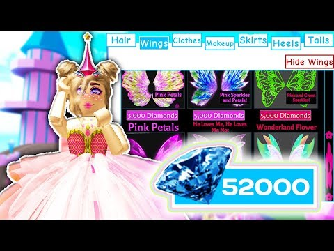 BUYING ALL THE WINGS, SKIRTS AND HEELS // SPENDING 40.000 ROBUX // Roblox Royale High School