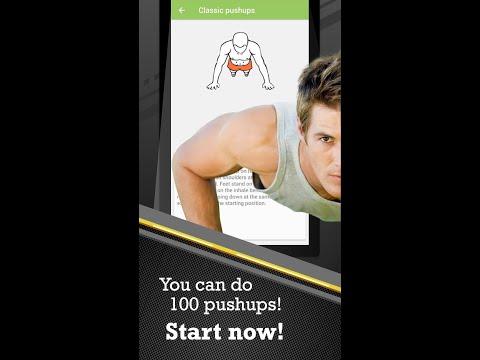100 Pushups BeStronger Mobile app video