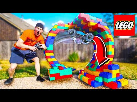 BUILDING A LEGO RC CAR LOOP! *INSANE*