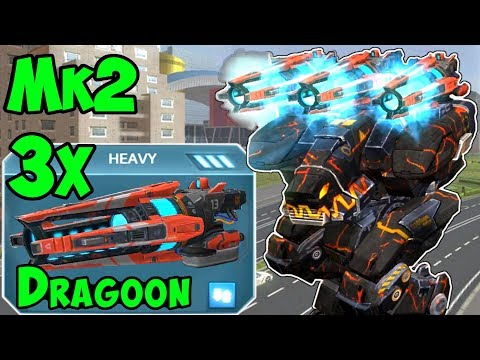 War Robots Best Dragoon Fury Spot on Dead City Mk2 Maxed Out Gameplay WR