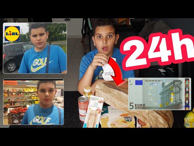 24H AVEC SEULEMENT 5€ POUR VIVRE ET MANGER CHEZ LIDL!!!