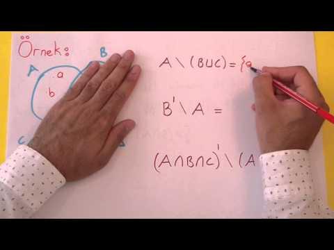 Kümeler 2 Şenol Hoca Matematik