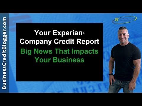 Experian Company Credit Report