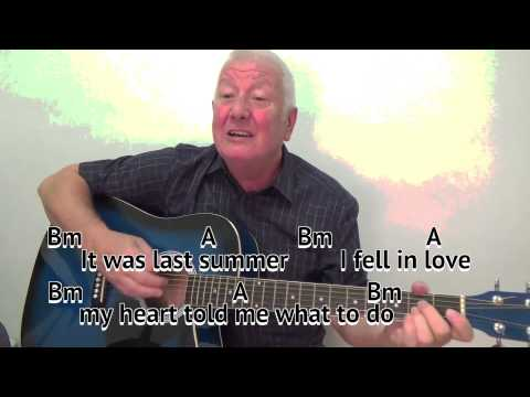 A Picture of You - Joe Brown - cover - easy chords guitar lesson with on-screen chords and lyrics