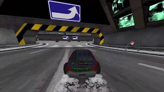 Daytona USA making donut turns with the number 41