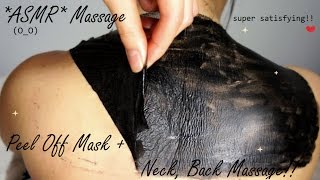 ASMR PEEL OFF MASK BACK, NECK, CHIN, ARMPITS !!  (O_O)