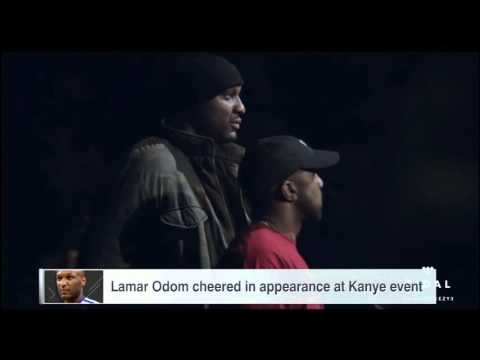 Lamar Odom greeted with cheers at Kanye event