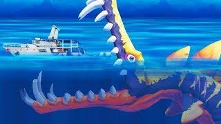 РЫБА ДИНОЗАВР ТОПИТ КОРАБЛИ!   Hungry Shark Evolution