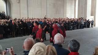 2019, menin gate, Ypres Anzac's performing the haka