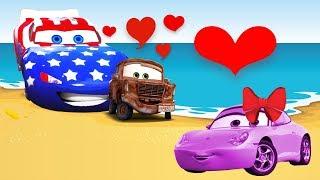 Мультик про машинки 💓 Грузовики и Монстр Траки 🚜 Большие машины 💖 Все фильмы для детей рифмы