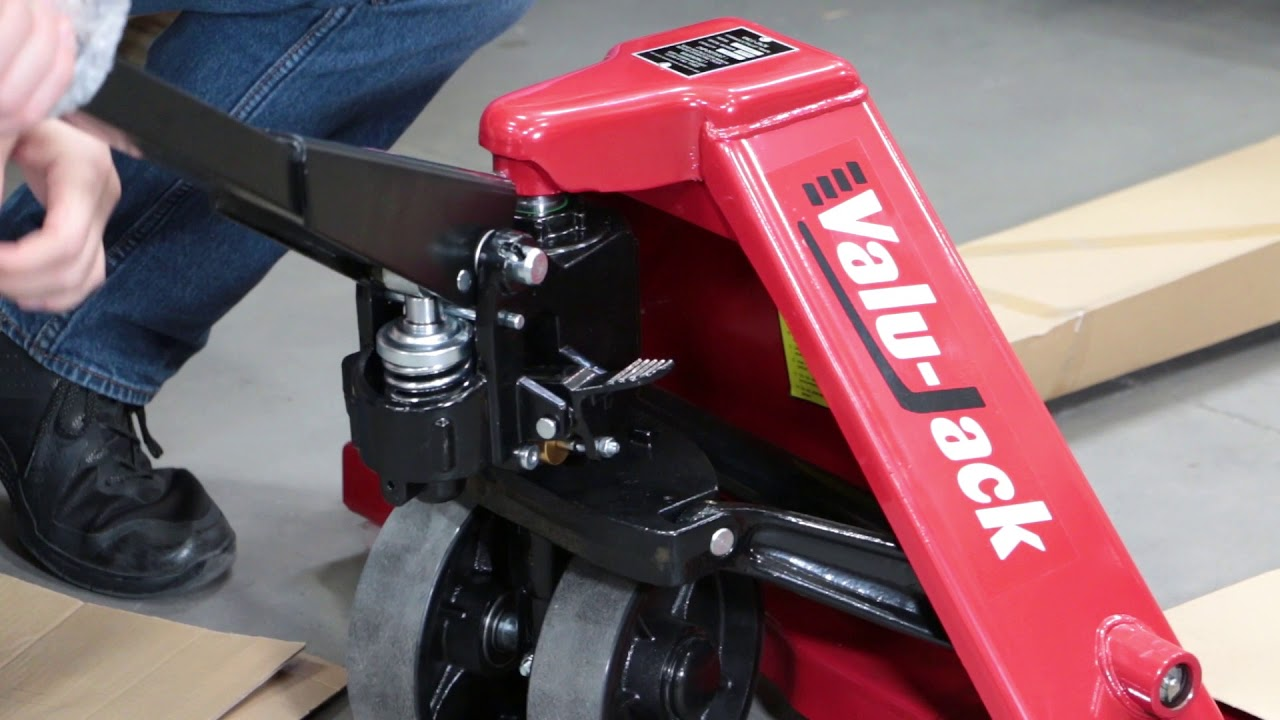 How-to Install the handle on your new pallet jack - YouTube