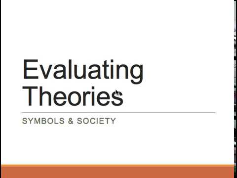 evaluating theories