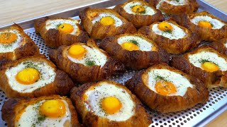 이것은 계란빵인가 크로와상인가!? 계란반숙으로 꽉찬! …