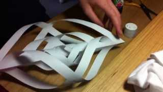 Repeat youtube video How to make paper icicle hanging decoration (HD)