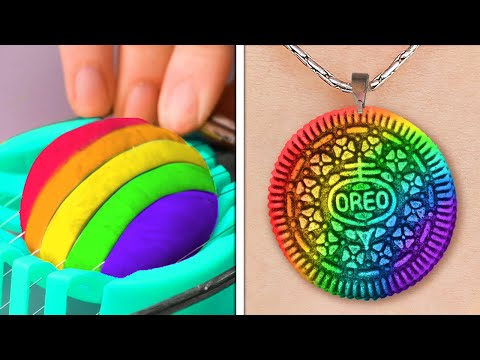 Cheap Yet Fantastic DIY Jewelry Crafts || Polymer Clay, Epoxy Resin, 3D-pen And Glue Gun Ideas