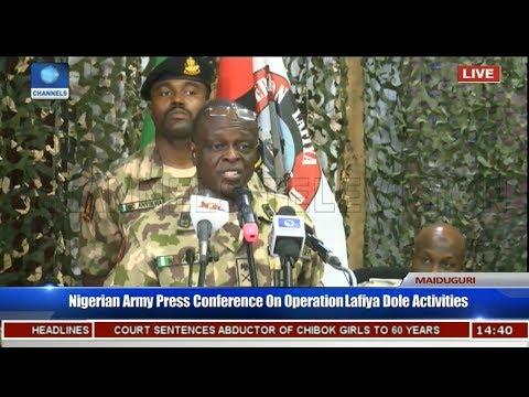 MAJ GEN  NICHOLAS ROGERS – Nigerian Army Press Briefing on War Against Boko Haram _ Feb 14, 2018