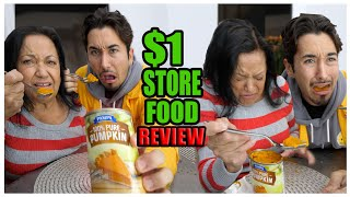 Dollar Store Thanksgiving Food Review with My Grandma... (TASTE TEST)