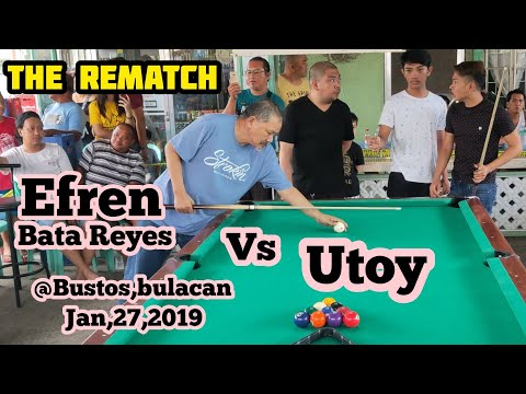 FULL VIDEO EFREN BATA REYES VS UTOY THE REMATCH 55K R21/22 EXHIBITION MATCH @BUSTOS BULACAN 2019