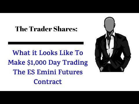 How To Make $1,000 Day Trading The S&P Emini Contract