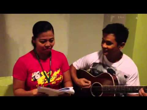 Songwriter Ogie tawang-tawa sa rehearsal nila ni Elevator Girl