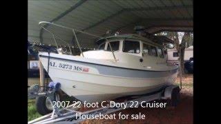 2007 22 foot C Dory 22 Cruiser Houseboat for sale. $39,000. Rehobeth, AL.