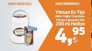 Yörsan Ev Tipi Bidon Yoğurt 2 kg Alana Yörsan Çikolatalı Süt 200 ml Hediye!