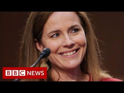 Amy Coney Barrett: Trump Supreme Court nominee sidesteps questions - BBC News