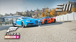 Forza Horizon 4 - Bugatti Chiron vs McLaren Senna | Street, Dirt & Cross Country Race!