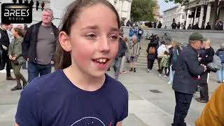 Anna Brees Interviews with the Protestors, Trafalgar Square 26th September 2020