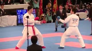 2018 全日本男子組手決勝 安藤大騎 vs 香川幸允 Ando vs Kagawa