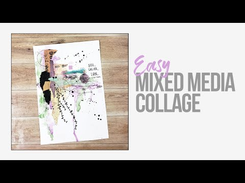 Easy Mixed Media Collage
