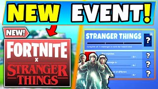 Fortnite STRANGER THINGS Event, Skins, and Challenges All Info! (New Battle Royale Update)