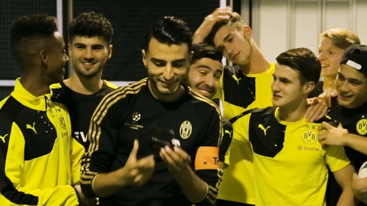 Football freestyle icon takes Dortmund stars to school. But would he survive Sunday League?